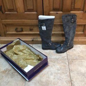 Talk dark grey Madden Girl boots